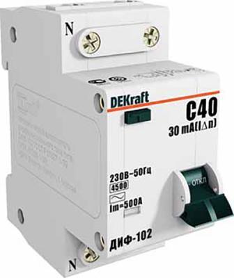 Диф. автомат 1Р+N 40А 30мА тип AC х-ка С ДИФ-102 4,5кА диф автомат tdm sq0204 0044