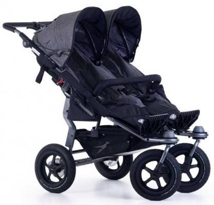 Купить Прогулочная коляска для двойни TFK Twin Adventure (premium grey), серый, Коляски для двоих детей