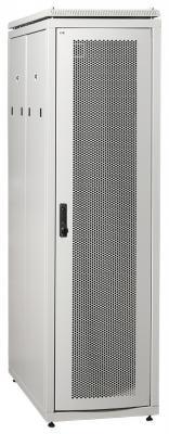 """ITK Шкаф сетевой 19"""" LINEA N 47U 600х1000 мм перфорированная передняя дверь серый"""
