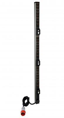 лучшая цена PDU Legrand Zero-U в алюминиевом корпусе, 380В/16A/3Ф, CEE входной разъём, MCB, 18 розеток C13, 6 розеток C19 с системой блокировки вилки на выходе