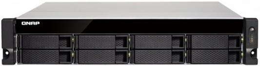 SMB QNAP TS-873U-4G NAS 8 HDD trays, 2x 10 GbE SFP+, 2 x M.2 slots SSD, rackmount, 1 PSU. 4-core AMD RX-421ND 2,1 GHz (up to 3,4 GHz ), 4 GB. RAM (2*2 GB) up to 64GB (4*16 GB). W/o rail kit RAIL-B02 цена