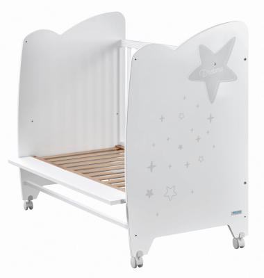 Купить Кроватка 120x60 Micuna Estela(White/Grey), белый, массив бука / МДФ, Кроватки без укачивания