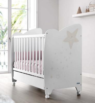 Кроватка 120x60 Micuna Estela(White/Sand) кроватка 120x60 micuna baby star white natural