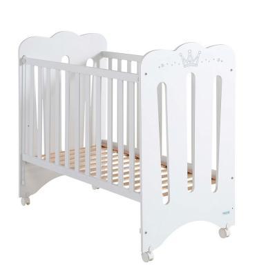Купить Кроватка 120x60 Micuna Meghan Матрас полиуретановый СН-620(White), белый, массив бука / МДФ, Кроватки без укачивания