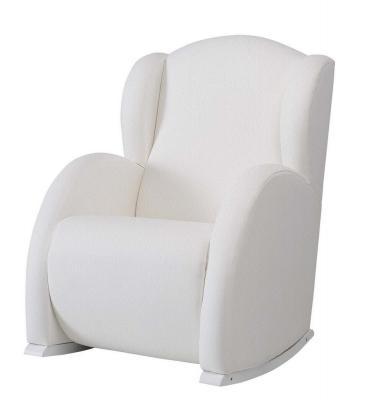 Купить Кресло-качалка с Relax-системой Micuna Wing/Flor White Кожаная обивка(Цвет обивки: Leatherette White), Кресла-качалки для мамы
