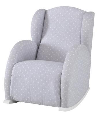 Купить Кресло-качалка Micuna Mini Wing/Flor(Цвет полозьев: White Цвет обивки: Galaxy Grey), Кресла-качалки для мамы