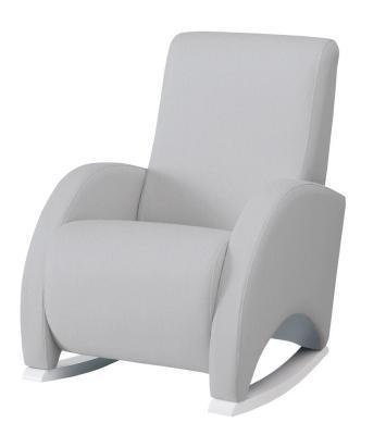 Купить Кресло-качалка с Relax-системой Micuna Wing/Confort White Кожаная обивка(Цвет обивки: Leatherette Grey), Кресла-качалки для мамы