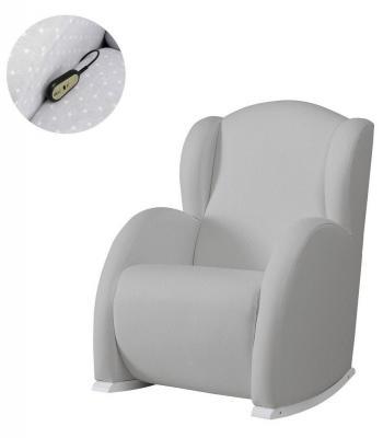 Купить Кресло-качалка Micuna Wing/Flor White Кожаная обивка(Цвет обивки: Leatherette Grey Искусственная кожа), Кресла-качалки для мамы