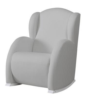 Купить Кресло-качалка с Relax-системой Micuna Wing/Flor White Кожаная обивка(Цвет обивки: Leatherette Grey), Кресла-качалки для мамы