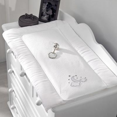 Купить Покрывало-матрасик для пеленания 50х80см Funnababy Luna Chic, белый, Матрасики для пеленания