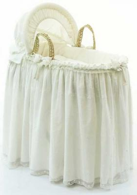 Купить Корзина-переноска плетёная с капюшоном Funnababy Premium Baby (cream), Сумки и корзины для переноски