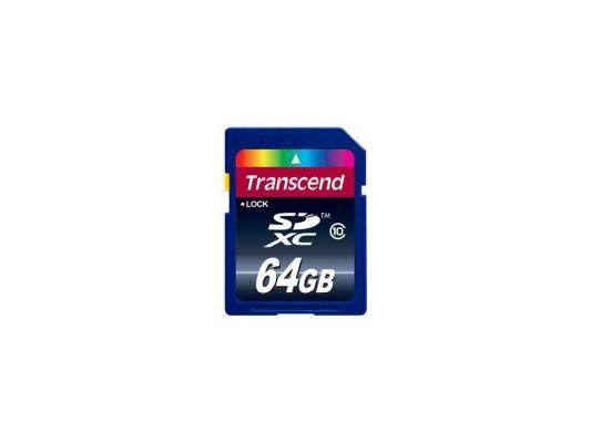 Карта памяти SDXC 64Gb Transcend Class10