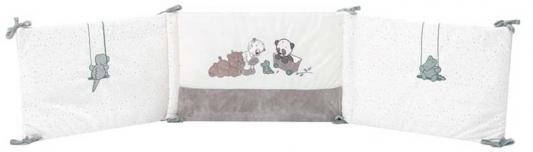 Купить Бортик для кровати универсальный Nattou Loulou, Lea Hippolyte Панда, Леопард, Бегемот 963480, Карманы на кроватку