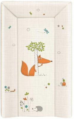 Пеленальный матраc 70см Ceba Baby W-103 (fox ecru) цена