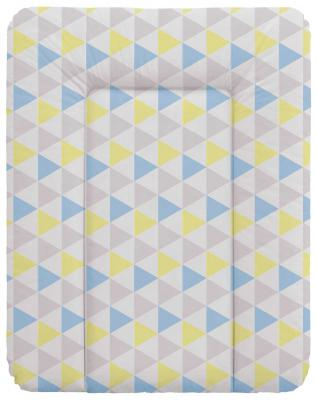 Пеленальный матраc на комод 70x50см Ceba Baby W-143 (triangle blue/yellow) матрас в коляску ceba baby triangle blue yellow w 814 067 019 э0000017184