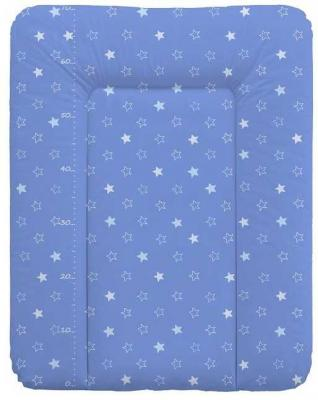 Пеленальный матраc на комод 70x50см Ceba Baby W-143 (stars dark blue)