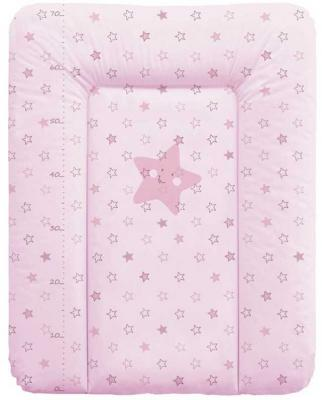 Пеленальный матраc на комод 70x50см Ceba Baby W-143 (stars pink)