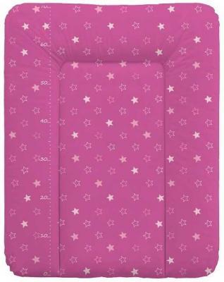Пеленальный матраc на комод 70x50см Ceba Baby W-143 (stars dark pink) full dark no stars
