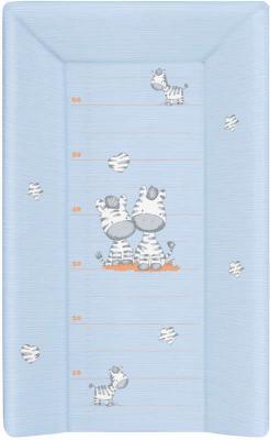 Купить Матрасик для пеленания на кровать на жёстком основании 70см Ceba Baby W-201 (zebra blue), рисунок, Матрасики для пеленания