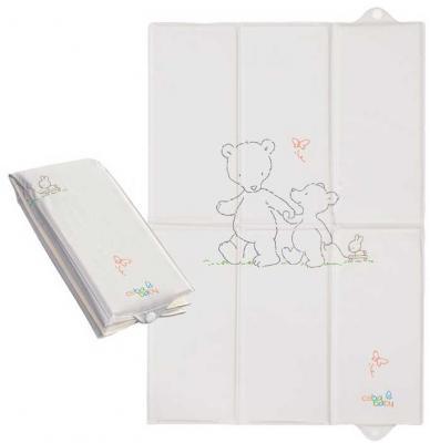 Купить Пеленальный матраc для путешествий 40x60см Ceba Baby Caro W-305 (papa bear grey), рисунок, Матрасики для пеленания