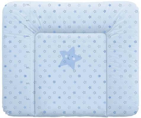 Матрасик для пеленания на комод 70x85см Ceba Baby Caro W-134 (stars blue) постельное белье ceba baby 3 пр stars blue вышивка w 806 066 160