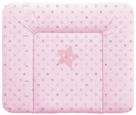 Пеленальный матраc на комод 70x85см Ceba Baby Caro W-134 (stars pink)