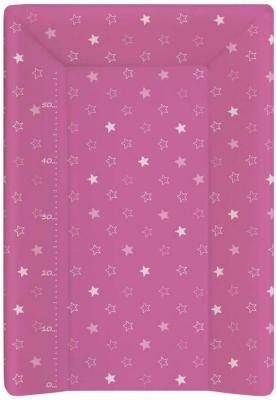 Пеленальный матраc на кровать на жёстком основании 70см Ceba Baby W-201 (stars dark pink) full dark no stars