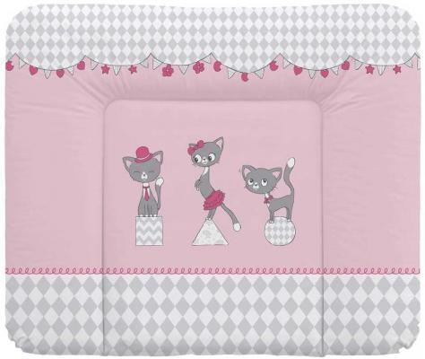 Пеленальный матраc на комод 70x85см Ceba Baby Caro W-134 (cats pink)