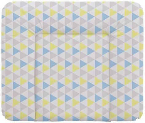 Пеленальный матраc на комод 70x85см Ceba Baby Caro W-134 (triangle blue/yellow) матрас в коляску ceba baby triangle blue yellow w 814 067 019 э0000017184