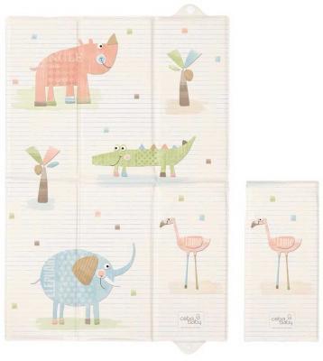 Пеленальный матраc для путешествий 40x60см Ceba Baby Caro W-305 (elephant gang ecru) чашка для яйца colour caro