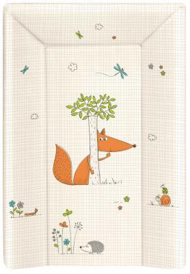 Купить Пеленальный матраc на кровать на жёстком основании 80см Ceba Baby W-211 (fox ecru), рисунок, Матрасики для пеленания