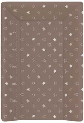 Пеленальный матраc на кровать на жёстком основании 70см Ceba Baby W-201 (stars brown) пеленальный матраc на кровать на жёстком основании 70см ceba baby w 201 dream roll over white