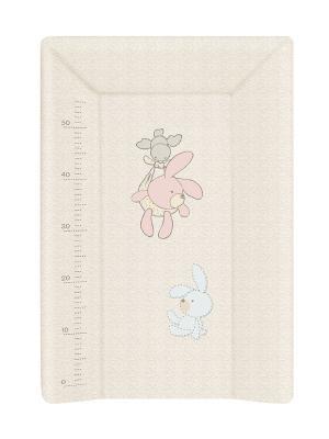 Пеленальный матраc на кровать на жёстком основании 70см Ceba Baby W-201 (bunnies grey) пеленальный матраc на кровать на жёстком основании 70см ceba baby w 201 dream roll over white