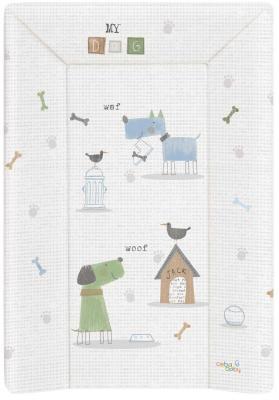 Пеленальный матраc на кровать на жёстком основании 70см Ceba Baby W-201 (my dog blue/green)
