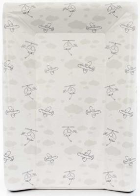 Пеленальный матраc на кровать на жёстком основании 70см Ceba Baby W-201 (grey planes) пеленальный матраc на кровать на жёстком основании 70см ceba baby w 201 dream roll over white
