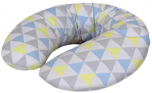 Подушка для кормления Ceba Baby Physio Mini (трикотаж/triangle blue/yellow) vintage rhinestone triangle pendant earrings
