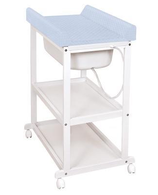 все цены на Стол пеленальный с ванночкой Ceba Baby Laura Caro (grey/матрасик blue) онлайн