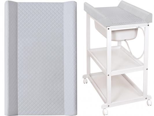 Купить Пеленальный стол Ceba Baby Laura с матрасиком Caro (grey/матрасик grey), серый, дерево / МДФ, Комоды пеленальные