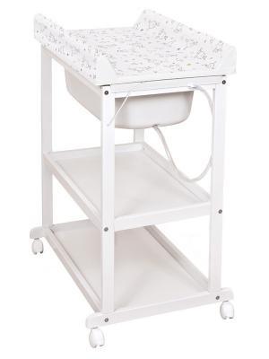 Пеленальный стол Ceba Baby Laura (beech/матрасик dream roll-over white) матрасик для санок меховой для snow baby dream стандарт далматинец