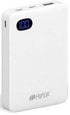 Внешний аккумулятор Power Bank 10000 мАч HIPER SN10000 BLACK белый внутренний аккумулятор 15000 мач hiper rp15000 белый