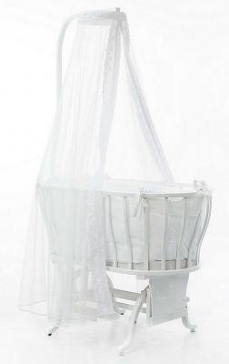 Купить Колыбель овальная Fiorellino Berlin (white), белый, Классические