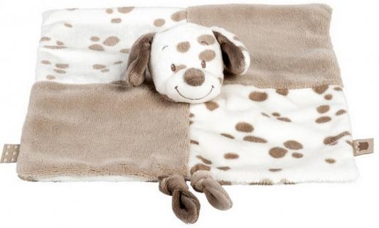 Мягкая игрушка собака Nattou Max, Noa Tom Doudou текстиль белый коричневый 27 см