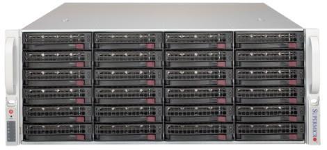 Корпус для сервера 4U 1200W CSE-846BE1C-R1K23B SUPERMICRO корпус для сервера 1u 400w cse 515 r407 supermicro