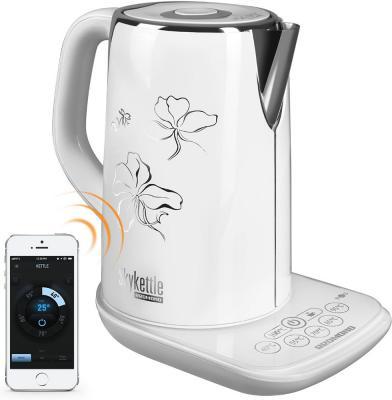 Чайник электрический Redmond RK-M170S-E 2400 Вт белый 1.7 л металл/пластик redmond rk m170s