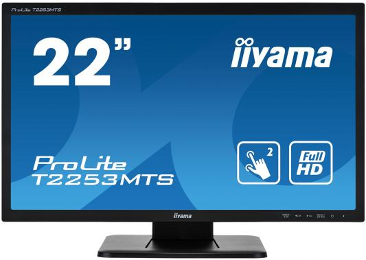 "Монитор 22"" iiYama ProLite T2253MTS-B1 черный TN 1920x1080 250 cd/m^2 2 ms DVI HDMI VGA Аудио USB монитор 27 iiyama prolite xb2788qs b1 ips led 2560x1440 5ms dvi hdmi displayport"