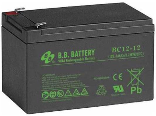 Батарея для ИБП BB BC 12-12 12В 12Ач батарея для ибп bb hrc 1234w 12в 9ач