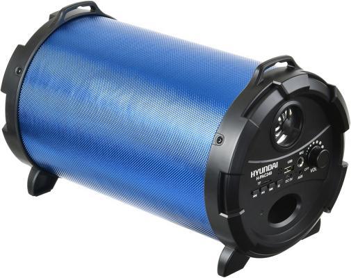 Колонка порт. Hyundai H-PAC240 синий/черный 16W 1.0 BT/3.5Jack/USB колонка hyundai h pac160