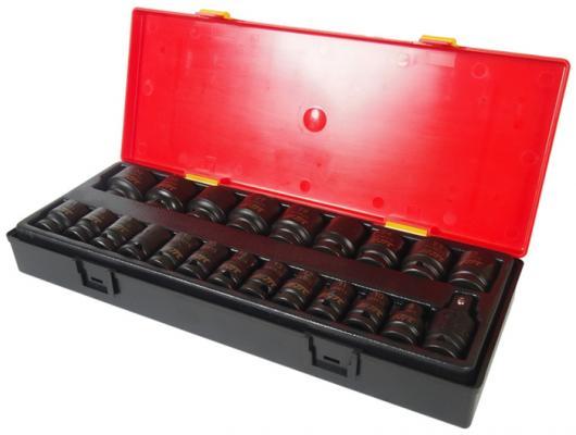 Набор головок JTC K4223 ударных 6-гранных 1/2 8-32мм в кейсе 22шт. набор внутренних зубчатых головок 1 2 10шт jtc 5432