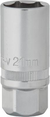 Головка KRAFT КТ 700623 торцевая 1/2 DR глубокая свечная 21мм
