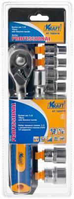 Набор головок KRAFT КТ700318 торцевых и принадлежностей 1/2 DR 12пр. набор головок skrab 44493 торцевых с трещоткой 1 2 12пр cv